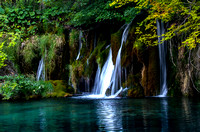 Water flowing over the limestone and chalk have created a series of  beautiful lakes and waterfalls in Croatia's  large Plitvice Lakes National Park.